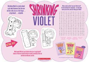 shrinking-violet-activity-sheet